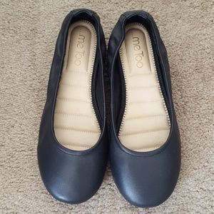Gently worn leather flats